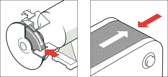 [Image] Two illustrations with red arrows pointing to examples of friction and abrasion hazards.
