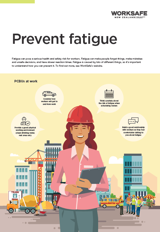 [image] thumbail of fatigue poster with illustration of women in a hard hat